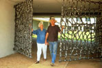 Pat Hickman & David Hamilton at the Entrance Gates to the Maui Arts & Cultural Center